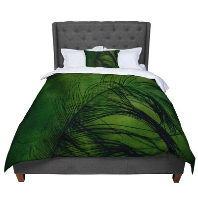 Robin Dickinson Feather Peacock Comforter Size: Queen
