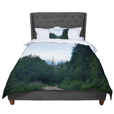 Robin Dickinson Go Get Lost Forest Comforter Size: King