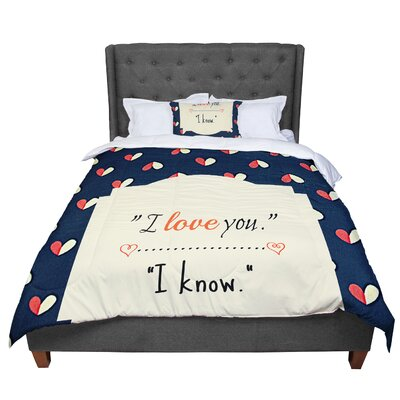 Robin Dickinson I Know Comforter Size: Queen