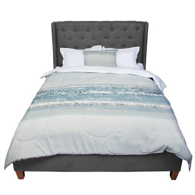 Robin Dickinson I Love the Beach Ocean Comforter Size: Twin