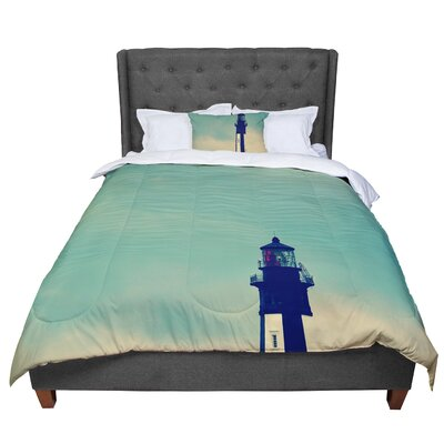Robin Dickinson New Cape Henry Lighthouse Comforter Size: Queen