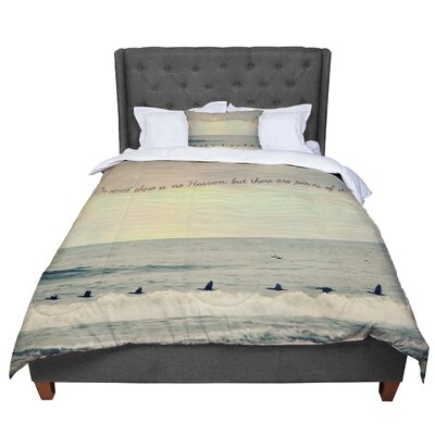 Robin Dickinson Pieces of Heaven Beach Comforter Size: King