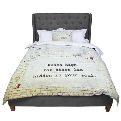 Robin Dickinson Reach High Brick Wall Comforter Size: Queen