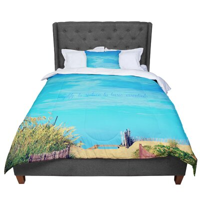 Robin Dickinson Simplify Beach Comforter Size: Queen