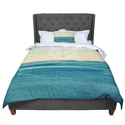 Robin Dickinson Row Your Own Boat Ocean Comforter Size: King