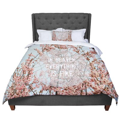 Robin Dickinson in Heaven Cherry Blossom Comforter Size: Queen