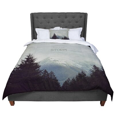 Robin Dickinson Brave the Storm Snow Mountain Comforter Size: King