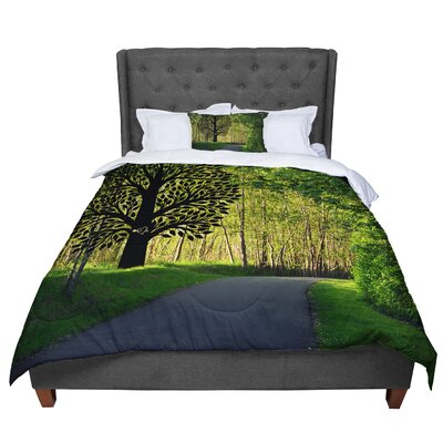 Robin Dickinson Love Forest Comforter Size: Twin