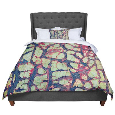 Robin Dickinson Pretty Patina Bark Comforter Size: Queen