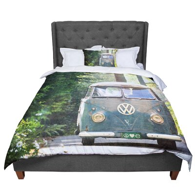 Robin Dickinson Peace Love Forest Comforter Size: King