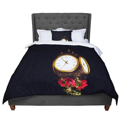 Robin Dickinson Xmas Clock Seasonal Comforter Size: Twin