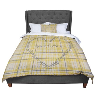 Robin Dickinson You and Me Comforter Size: Queen