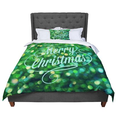 Robin Dickinson Merry Christmas Comforter Size: Queen