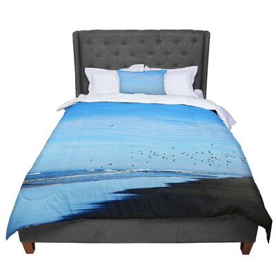Robin Dickinson Beach Hair Coastal Comforter Size: Queen