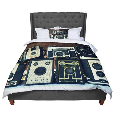 Robin Dickinson Through the Years Vintage Camera Comforter Size: Twin