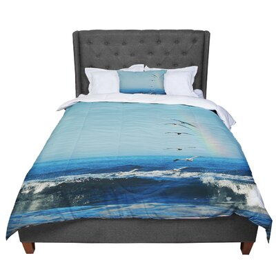 Robin Dickinson Ill Follow Coastal Comforter Size: King
