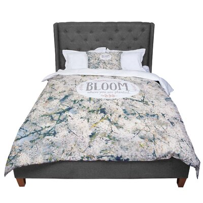 Robin Dickinson Bloom Where You Are Planted Floral Comforter Size: King