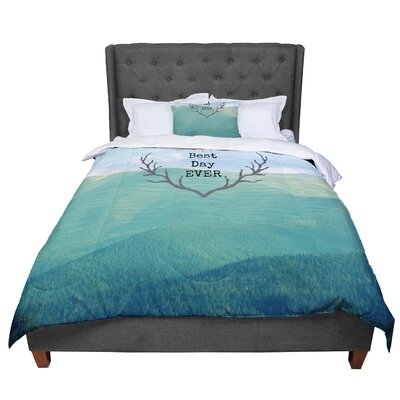 Robin Dickinson Best Day Ever Landscape Comforter Size: King