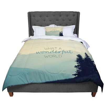 Robin Dickinson What a Wonderful World Comforter Size: Queen