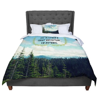 Robin Dickinson Life Is Landscape Typography Comforter Size: Queen