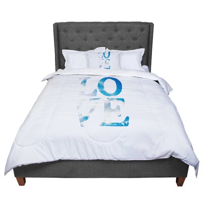 Robin Dickinson Love Cloud Comforter Size: Queen