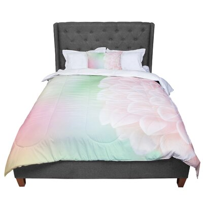 Robin Dickinson Sweet Floral Comforter Size: King
