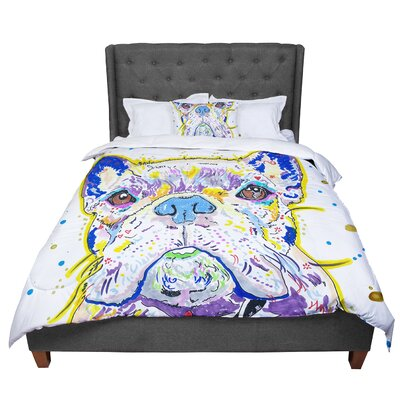 Rebecca Fischer Niko French Bulldog Comforter Size: Queen