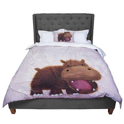 Rachel Kokko the Happy Hippo Comforter Size: King