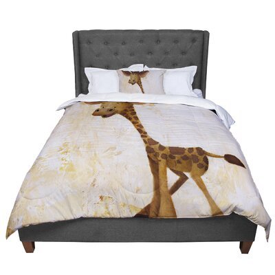 Rachel Kokko Georgey the Giraffe Comforter Size: King