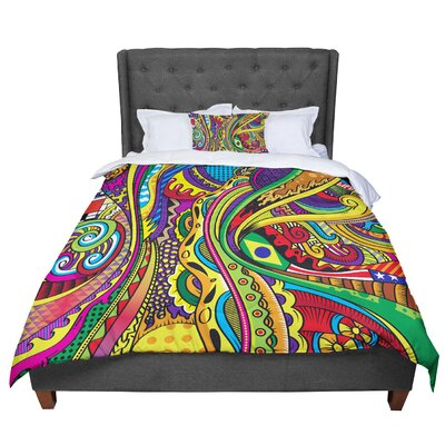 Roberlan Doodle Abstract Comforter Size: Queen