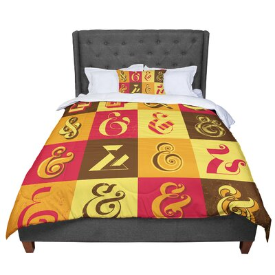 Roberlan Ampersands Typography Comforter Size: King