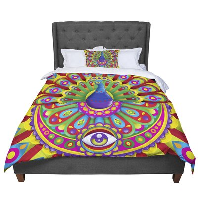 Roberlan Peacolor Comforter Size: King