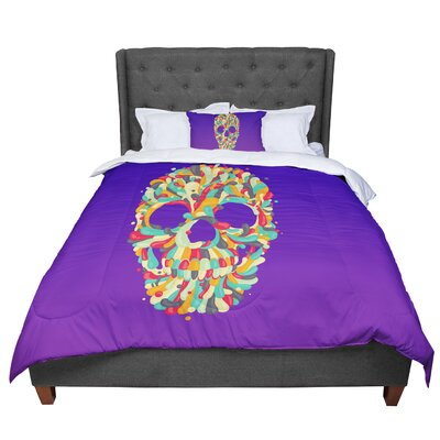 Roberlan Jelly Skull Comforter Size: Twin