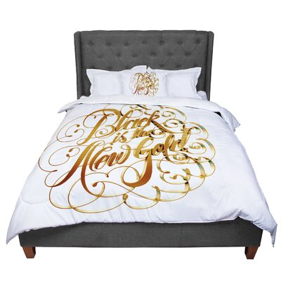 Roberlan Is the New Typography Comforter Size: King