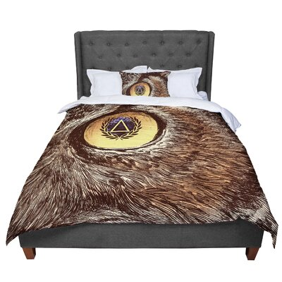 BarmalisiRTB Sharp Eye Owl Comforter Size: Queen
