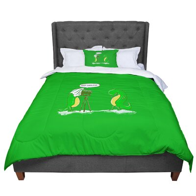 BarmalisiRTB Keep Smiling Illustration Comforter Size: Queen