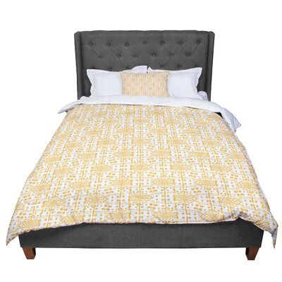 Apple Kaur Designs Diamonds Squares Comforter Size: Queen
