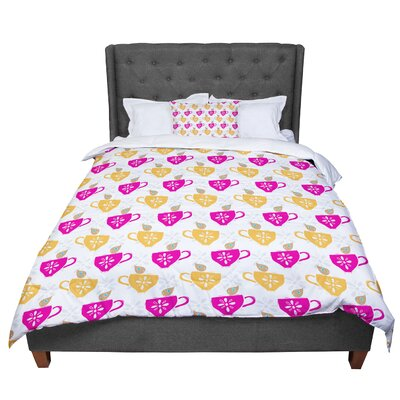 Apple Kaur Designs Birds Comforter Size: Queen