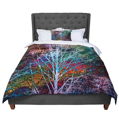 Sylvia Cook Trees in the Night Comforter Size: Twin
