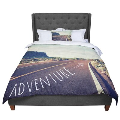 Sylvia Cook Adventure Desert Road Comforter Size: King