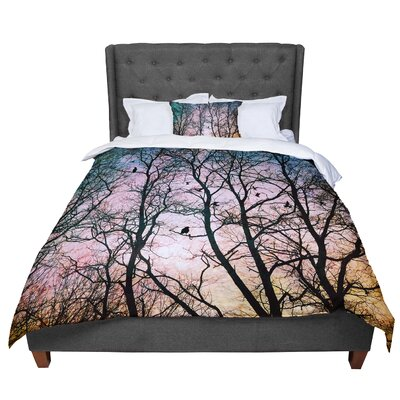 Sylvia Cook the Birds Comforter Size: King