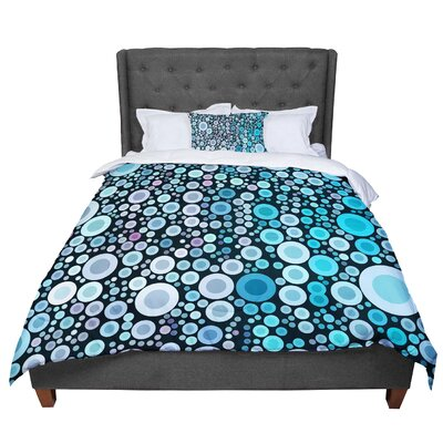Sylvia Cook Aquatic Circles Comforter Size: Queen