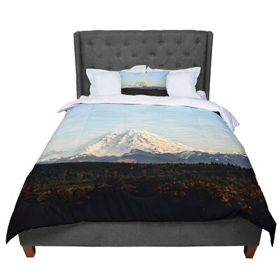 Sylvia Cook Mt. Rainier Mountain Photo Comforter Size: King