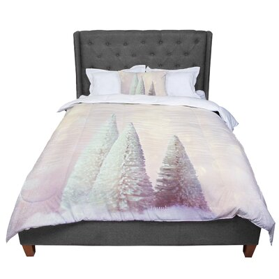 Sylvia Cook Bottle Brush Trees Comforter Size: Queen