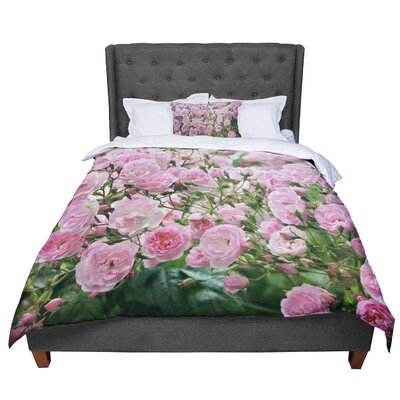 Sylvia Cook The Fairy Rose Floral Comforter Size: King
