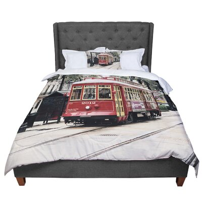 Sylvia Cook Canal Street Car Travel Urban Comforter Size: Queen