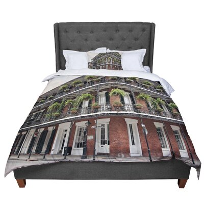 Sylvia Cook New Orleans Street Corner Comforter Size: Twin