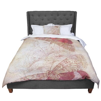 Suzanne Carter Vintage Garden Butterfly Moth Comforter Size: Twin