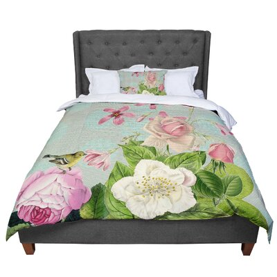 Suzanne Carter Vintage Garden Cush Flowers Comforter Size: Twin
