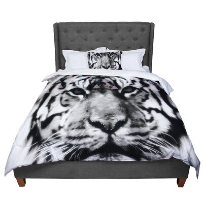 Suzanne Carter Tiger Face Animal Comforter Size: King